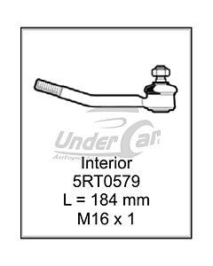 FIAT 125 63/82 EXT. INTERIOR. L = 184 MM  M16 X 1