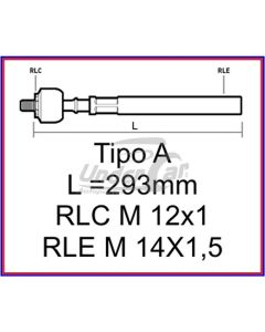 TRAFIC 86/. AXIAL L= 293 MM   M12 X 1