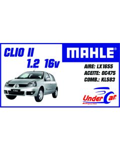 Clio II 1.2 16v LX1655 OC475 KL583